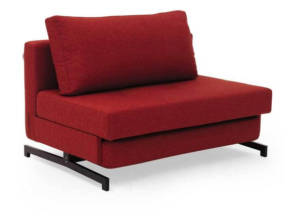 Contemporary sleeper sofa bed loveseat in red
