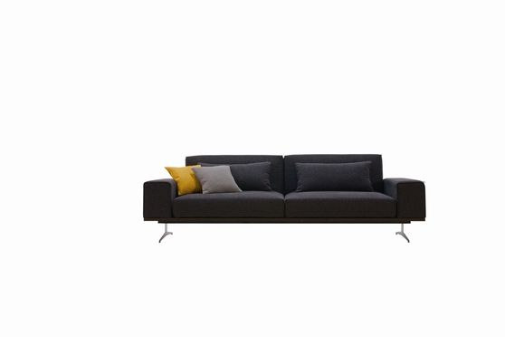 Designer charcoal fabric modern sleeper