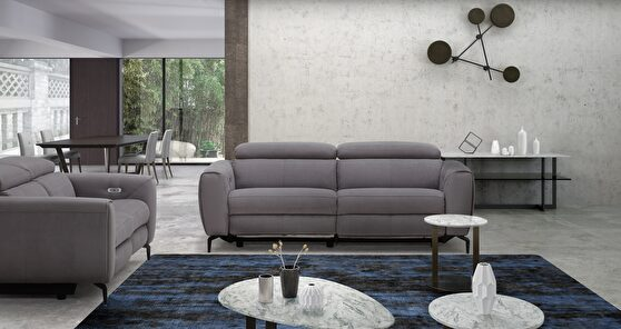 Premium fabric power motion sofa