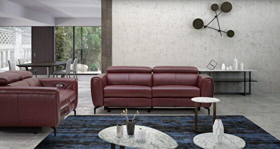 Premium Italian leather power motion sofa