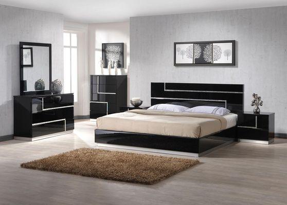 Black lacquer high-gloss king 5pcs set