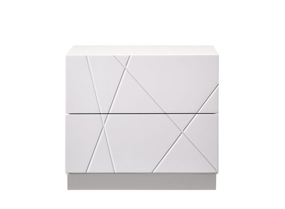 Contemporary high-gloss night stand in white