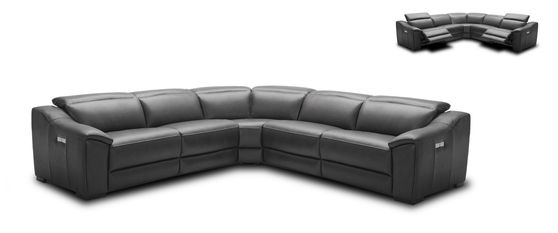 Premium Italian leather motion sectional sofa
