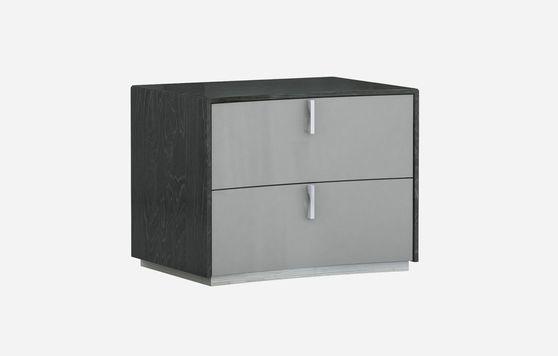 Modern gray/black night stand