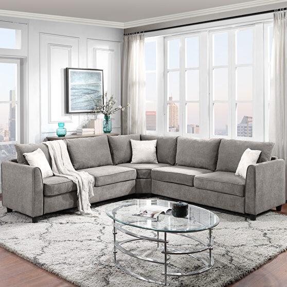 Gray shelter big sectional sofa