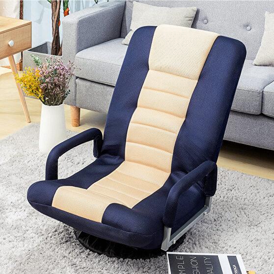 Blue swivel video rocker gaming adjustable 7-position floor chair
