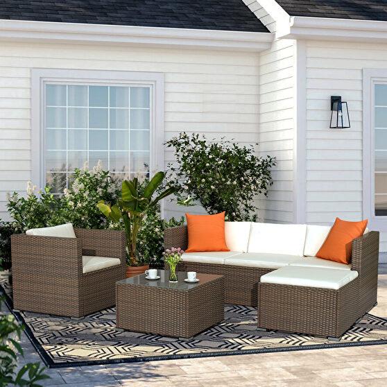 Brown rattan patio furniture 4 piece set