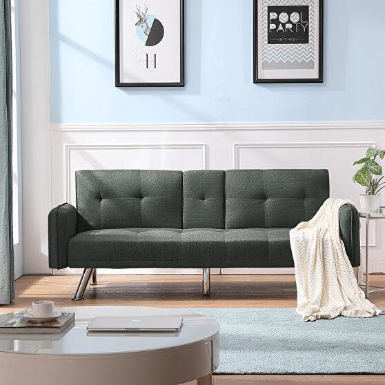 Sleeper sofa dark gray fabric