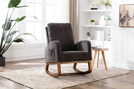 Living room comfortable rocking chair living room chair dark gray