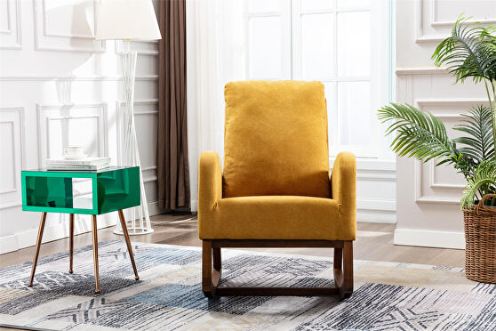 Living room comfortable rocking chair living room chair yellow