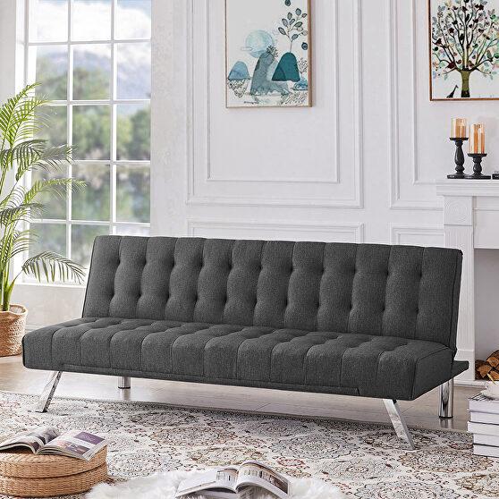 Upholstered convertible folding sleeper recliner for living room