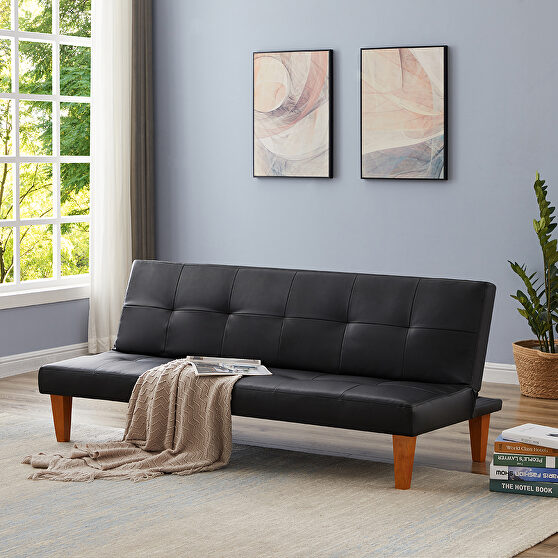 Pu leather sofa bed couch , convertible folding futon sofa bed