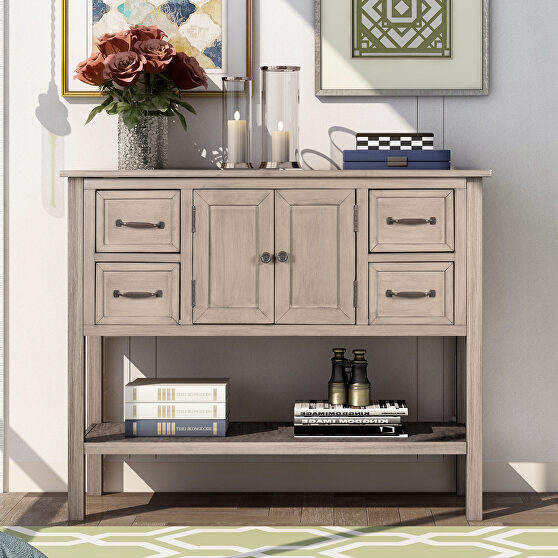 Gray pine ustyle modern console table sofa table