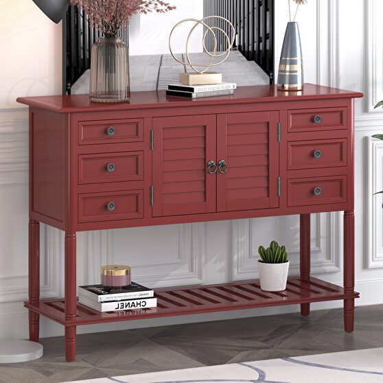Red wood ustyle modern console sofa table