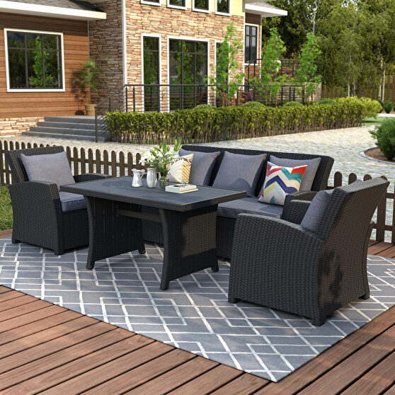 Ustyle outdoor patio furniture set 4-piece conversation set