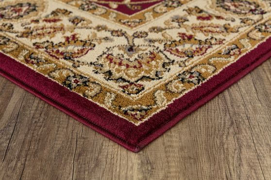Crown 5'2 x 7'2 Traditional Floral Red area rug