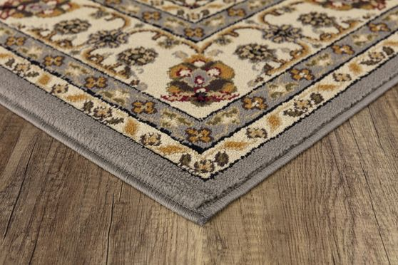 Crown 5'2 x 7'2 Traditional Medallion Blue area rug