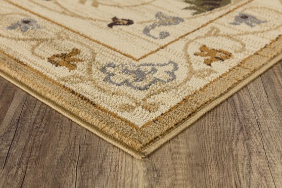 Crown 5'2 x 7'2 Traditional Floral Ivory area rug