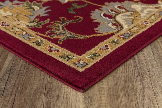 Crown 5'2 x 7'2 Traditional Medallion Red area rug