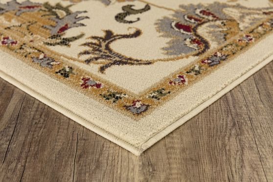 Crown 5'2 x 7'2 Traditional Medallion Ivory area rug