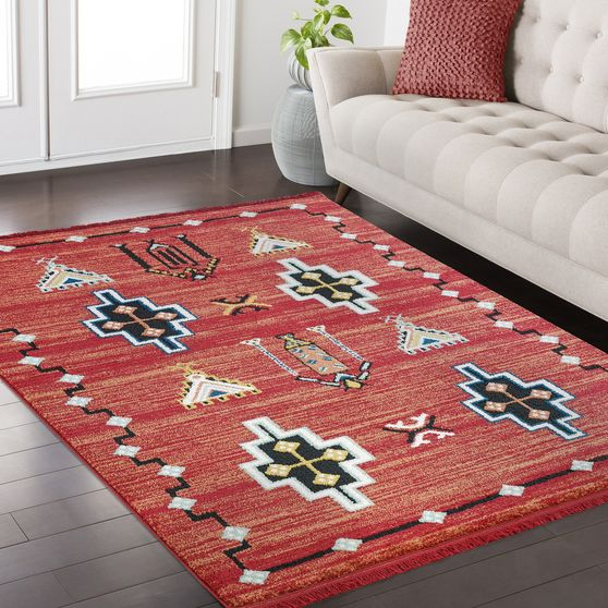 FEZ 3'9 x 5'2 Modern Moroccan Brick area rug