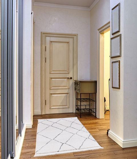2'7 x 4'7 Modern Moroccan White area rug