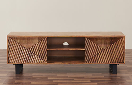 Solid wood contemporary tv stand