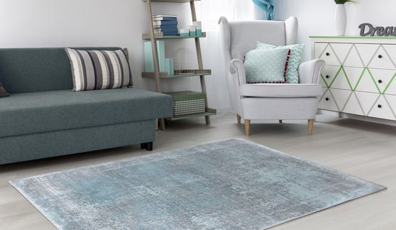 Mirage 7'10 X 10'2'  Modern & Contemporary Abstract Blue/Gray area rug