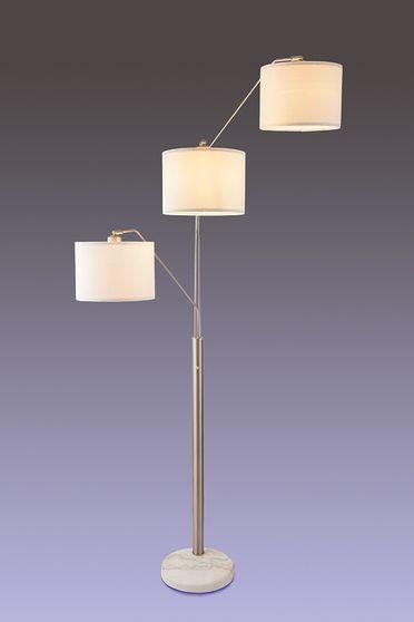 Solid marble base floor lamp