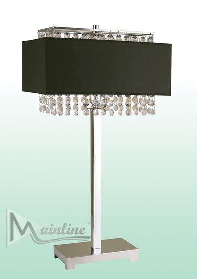 Black curtain table lamp in neo-classical style