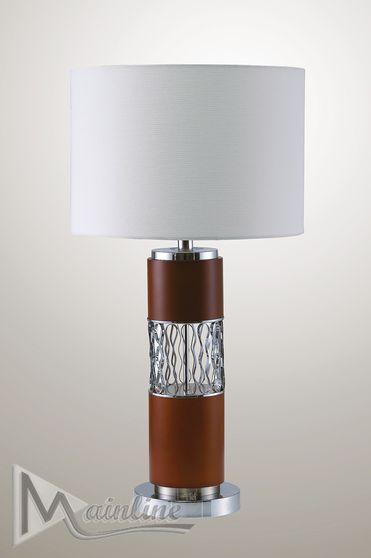 Rectangular shade table lamp