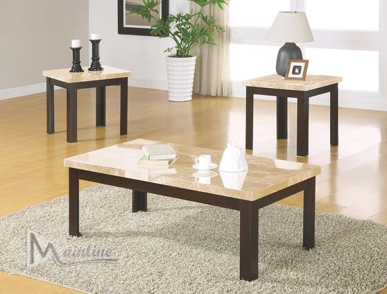 3pcs faux marble top coffee table set