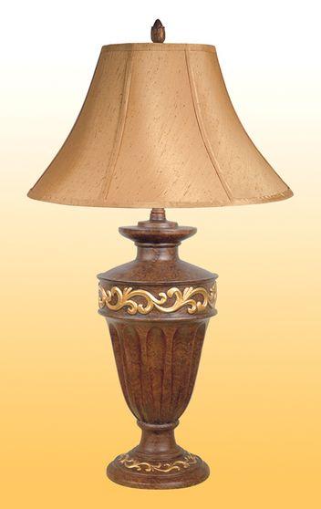 Golden Ivy design table lamp set