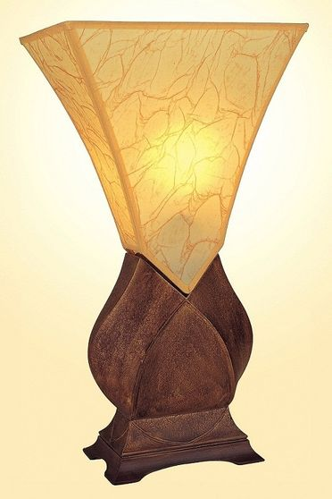 Conical base table lamp
