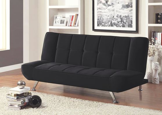 Contemporary stylish sofa bed in black
