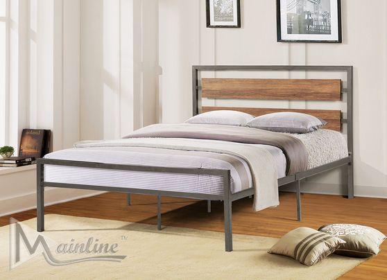 Metal frame platform twin bed
