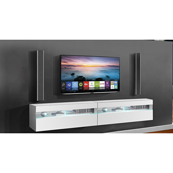 Wall-mounted contemporary tv stand