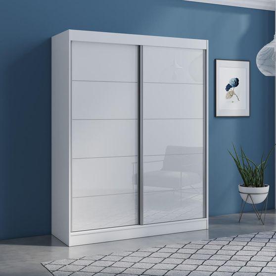 Contemporary wardrobe w/ 2 white doors