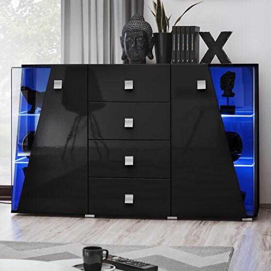 Contemporary black 59-inch sideboard / display