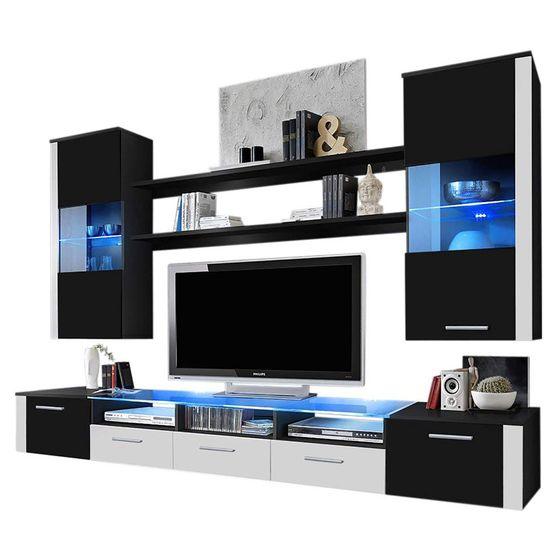 Contemporary Wall-Unit in Black / White