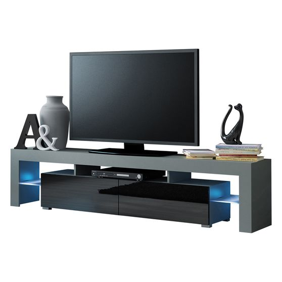Contemporary low-profile tv-stand w/ LED