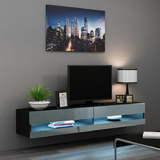 Wall-mounted floating tv stand
