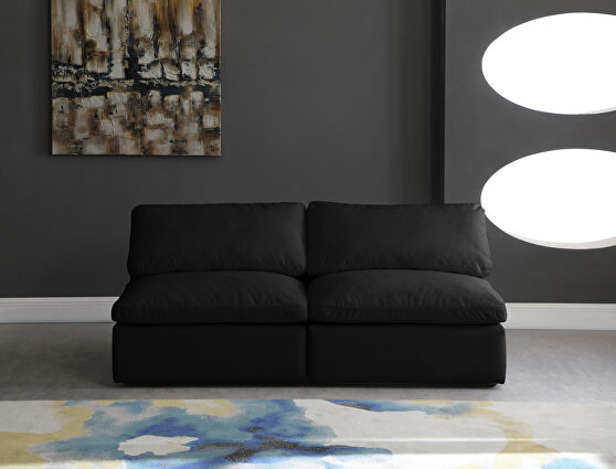 Modular 2pcs contemporary velvet couch