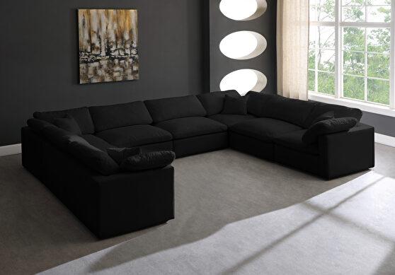 Modular 8pcs contemporary velvet sectional