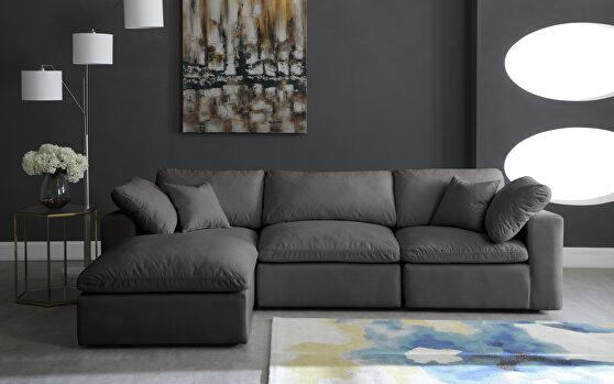 Modular 4pcs contemporary velvet sectional