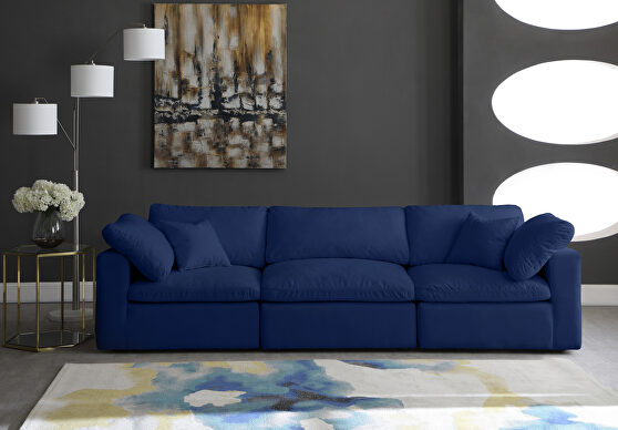 Modular 3pcs contemporary velvet couch