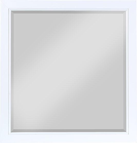 White mirror for model dresser