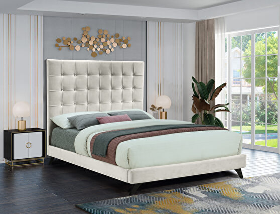 Simple casual affordable platform bed