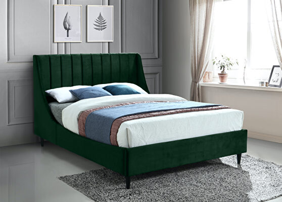 Contemporary wing back / tufted casual style bed
