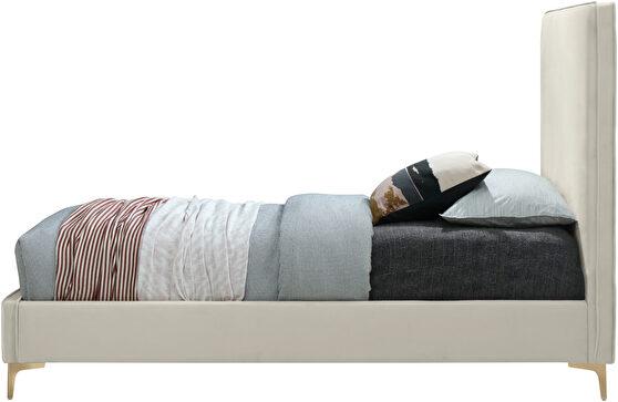Velvet fabric casual design stand-alone full bed